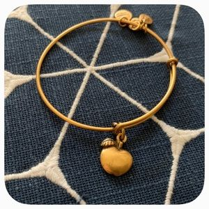 Alex and Ani•Apple Charm Bangle